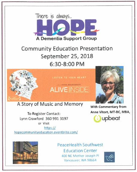 HOPE Dementia Support Group-A Story of Music and Memory